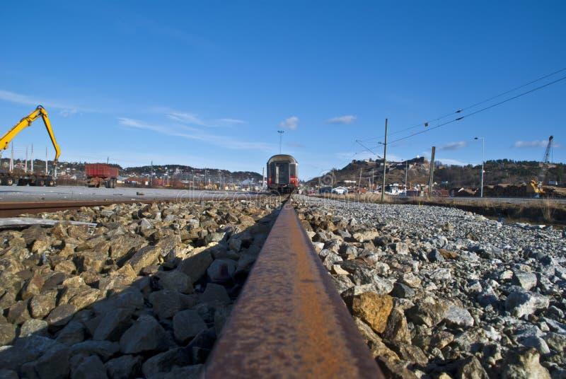 Download Train on the line. stock photo. Image of locomotive, tracks - 23664934
