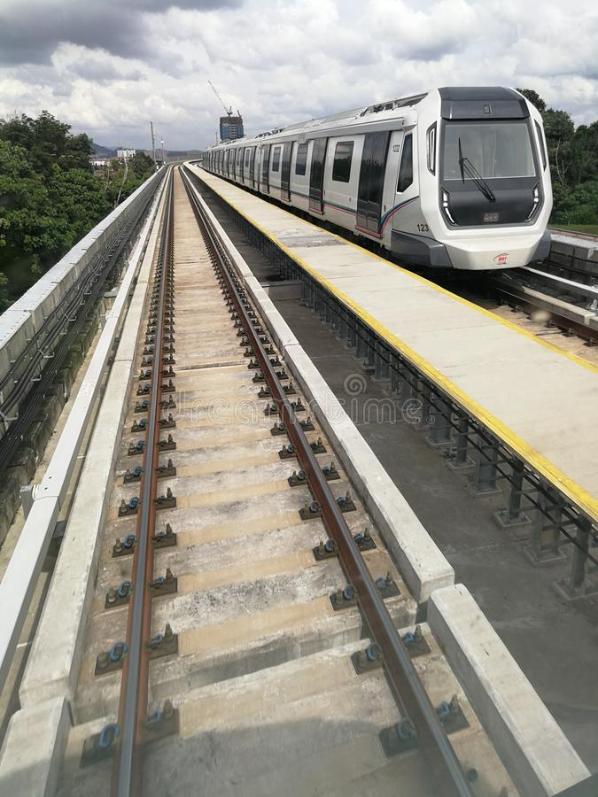 Train of Mass Rapid Transit in City royalty free stock photos