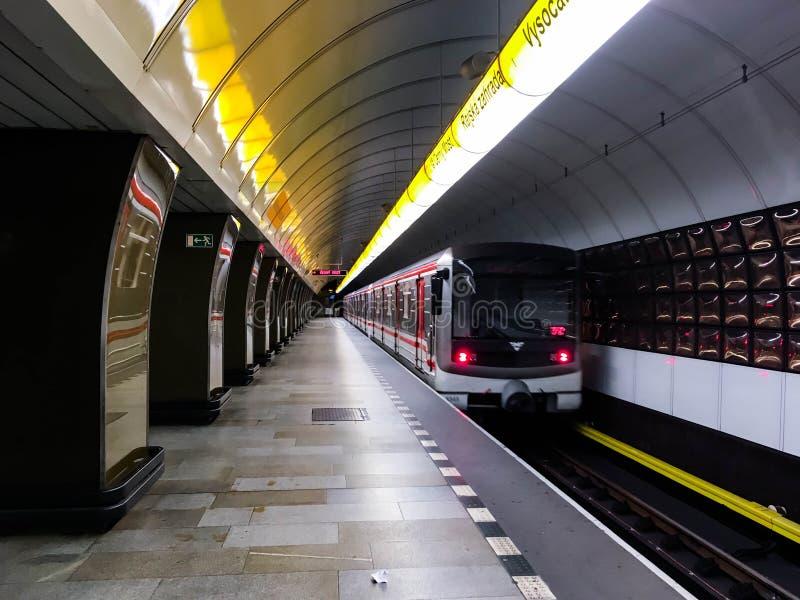 Metro in Prague stock photography