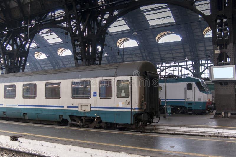 Train in Milan station stock photos