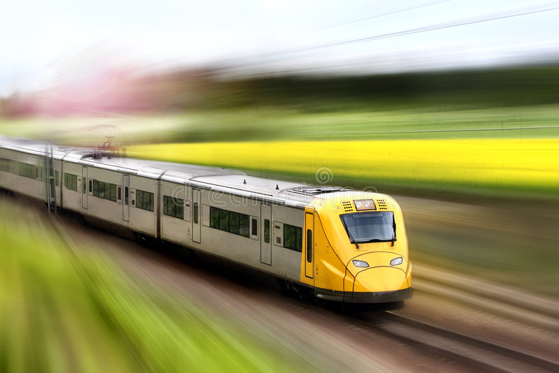 Download Train in motion stock photo. Image of real, horizontal - 6194736