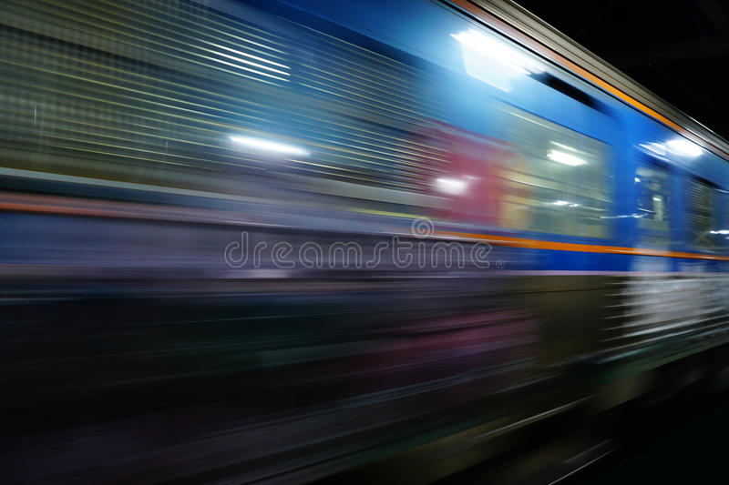 Train moving blurred motion, abstract transport royalty free stock image