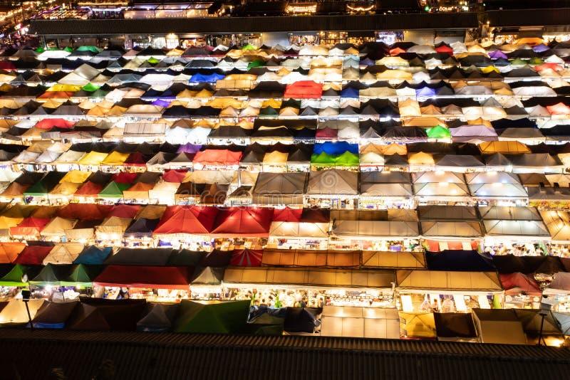 Train Night Market Ratchada, Bangkok, Thailand royalty free stock photos