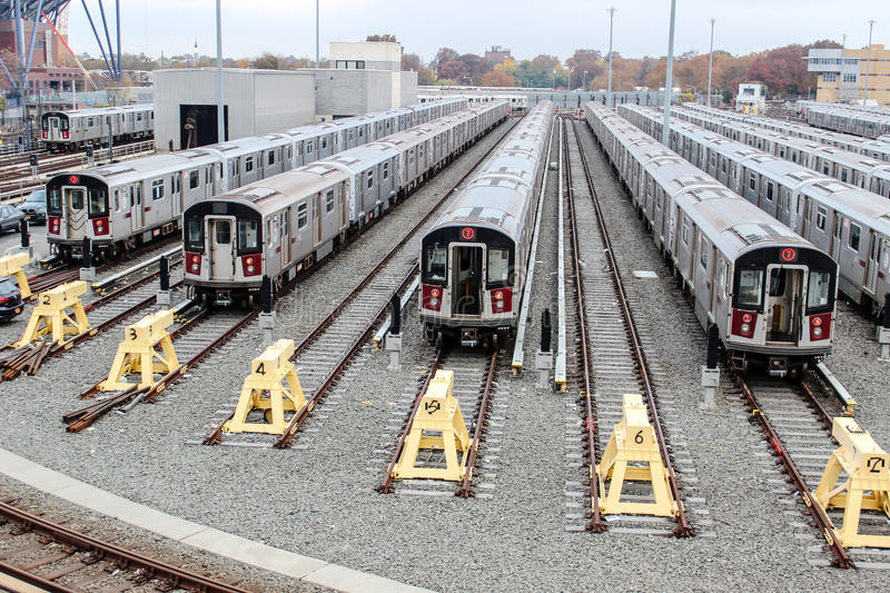 7 Train NYC royalty free stock images