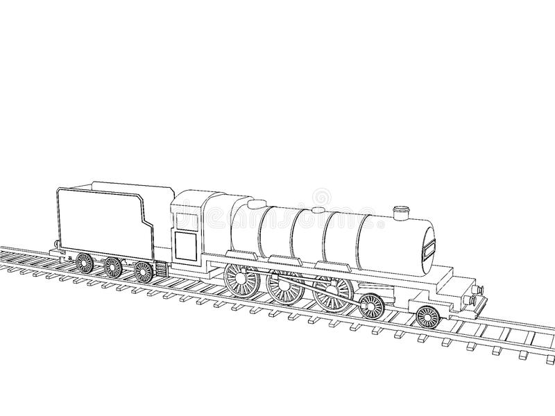 Train Outline Vector Stock Vector