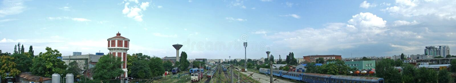 Download Train panorama stock image. Image of destinations, leaving - 10634223
