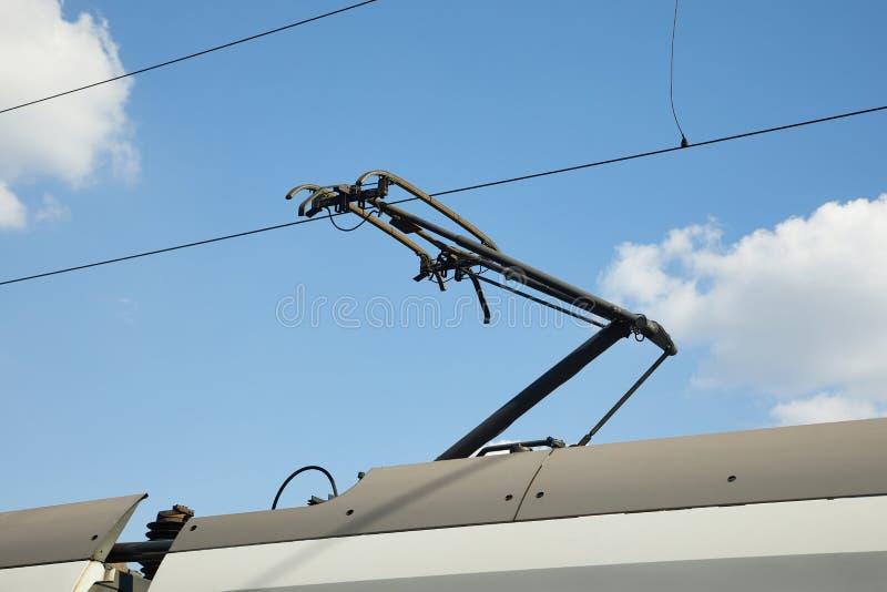 Train Pantograph Closeup royalty free stock photo