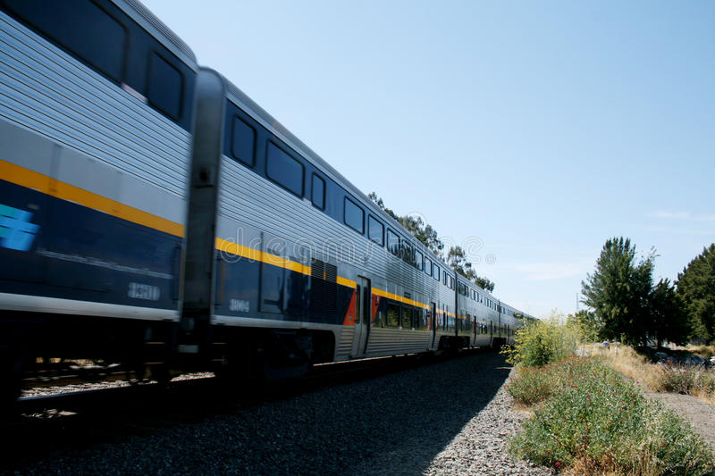 Train passing royalty free stock photography
