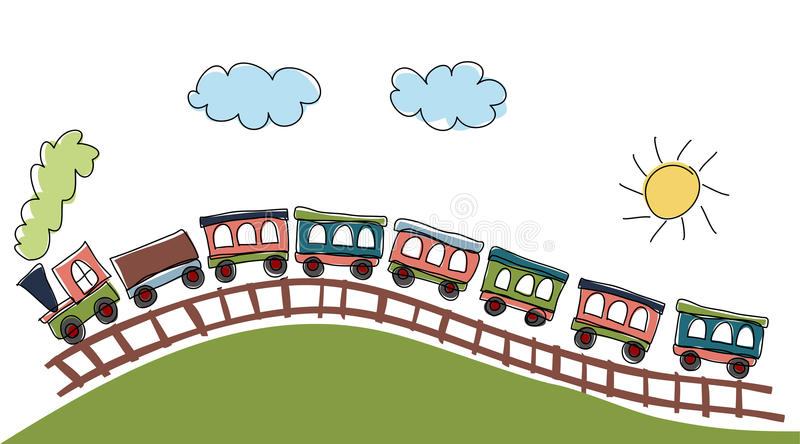 Download Train pattern stock vector. Image of card, drawing, cartoon - 25580344