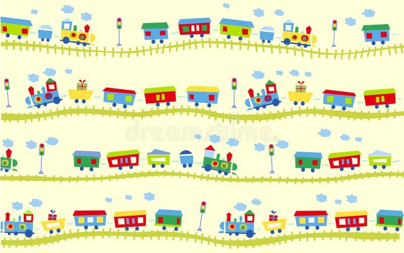 Train pattern stock photos