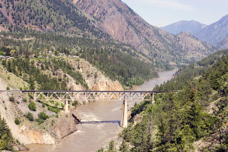 Train Rail Bridge Fraser River stock photos