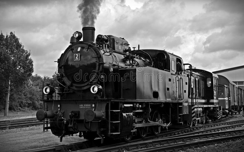 Train on Railroad Tracks Against Sky royalty free stock photography