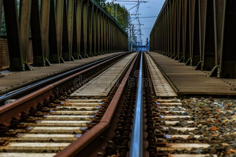 Train Railway Bridge stock image