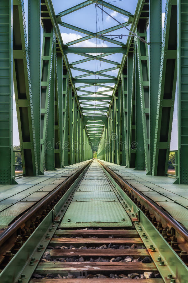 Train railway bridge . stock photography