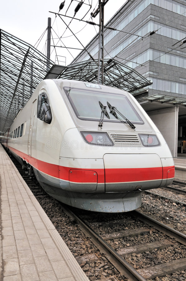 Download Train at railway station stock image. Image of helsinki - 9075133