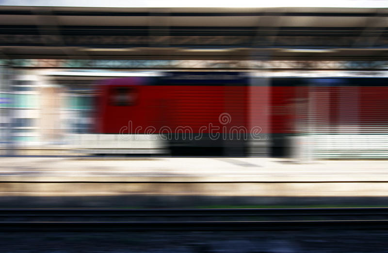 Train in the railway station abstract stock photography