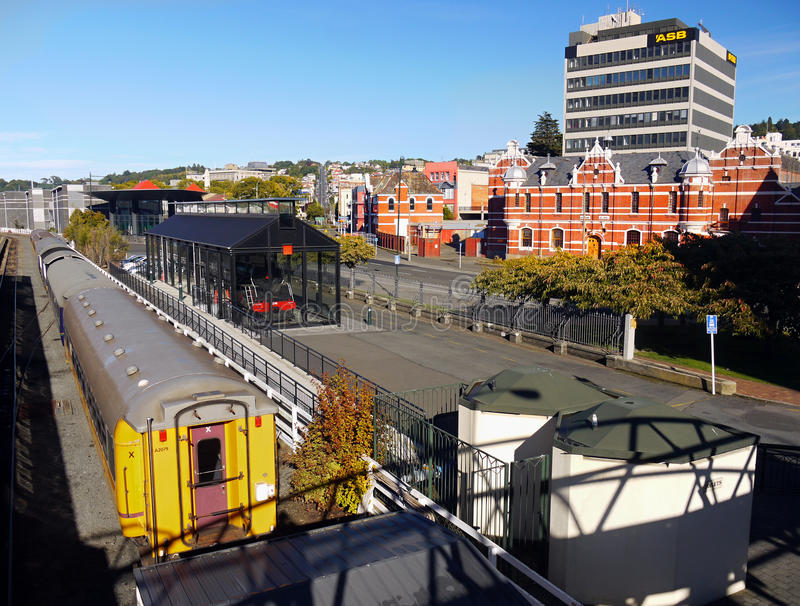 Train, Railway Station, New Zealand royalty free stock images