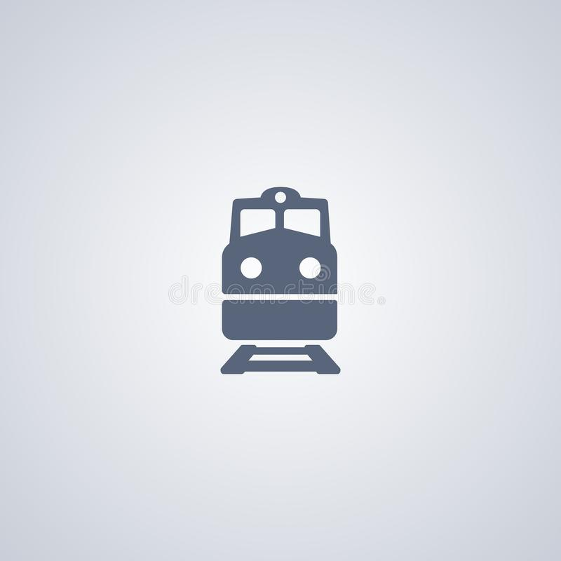 Train, railway, vector best flat icon. On white background , EPS 10 stock illustration