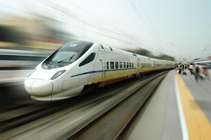 Train rapide chinois photo libre de droits