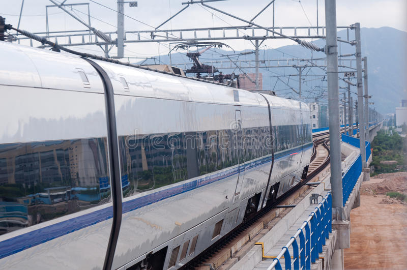 Train rapide chinois photo stock
