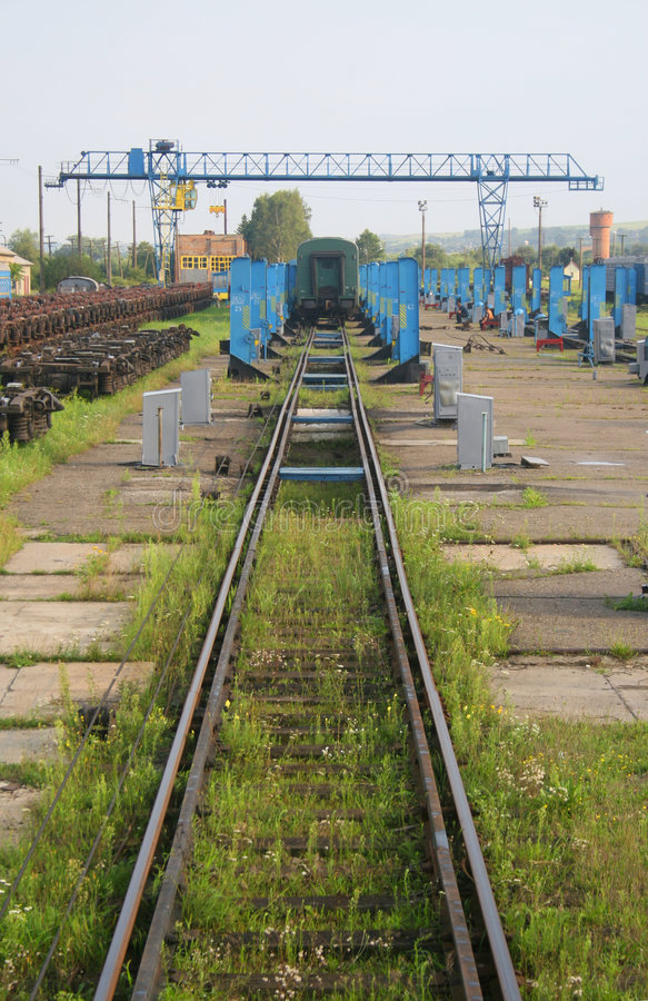 Free Train Repair Yard Royalty Free Stock Photography - 6418057