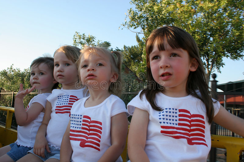 Download Train Ride stock image. Image of american, young, girls - 163477