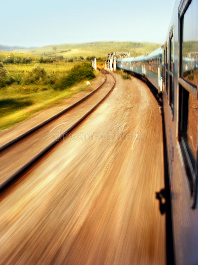 Download Train Roll On stock image. Image of motion, scenery, reflection - 13473639