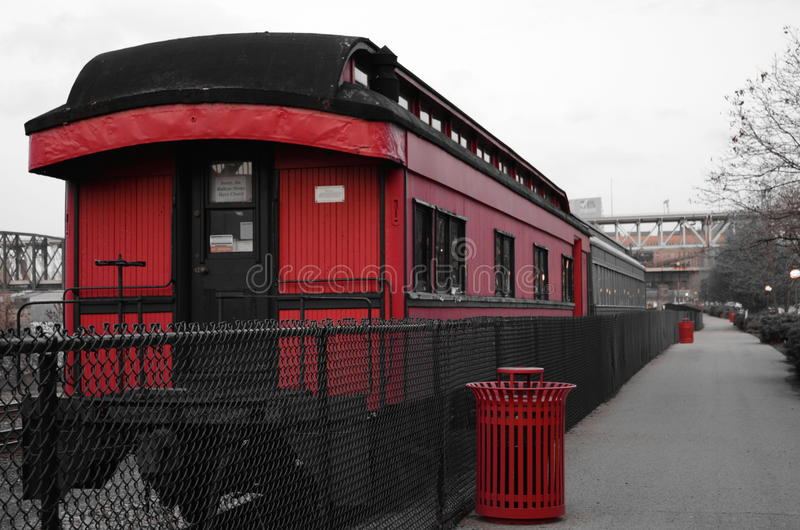 Train rouge photos stock