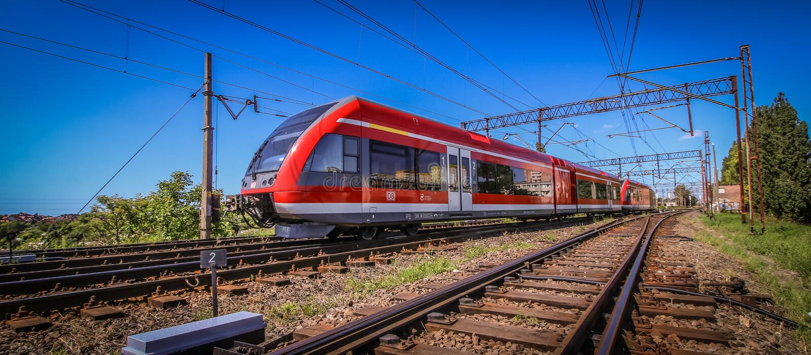 Train rouge photo stock