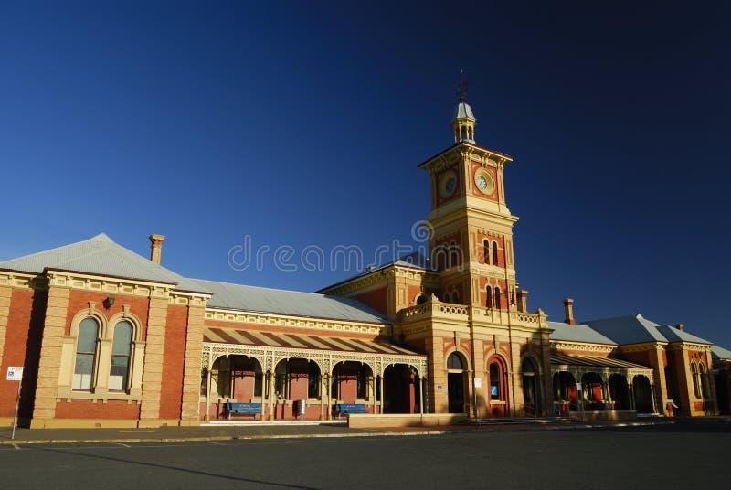 Train Sation d'Albury image libre de droits