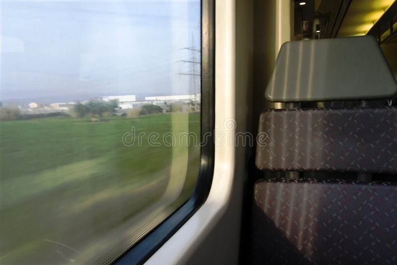 Train seat royalty free stock image