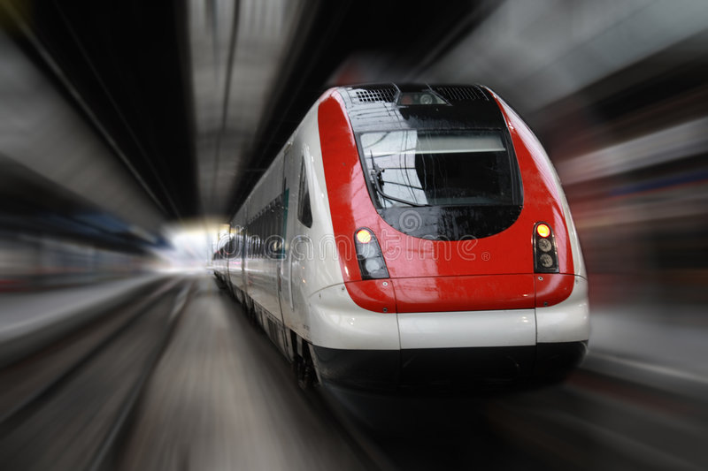 Train Series. Front Side Train with Blur Effect royalty free stock photos
