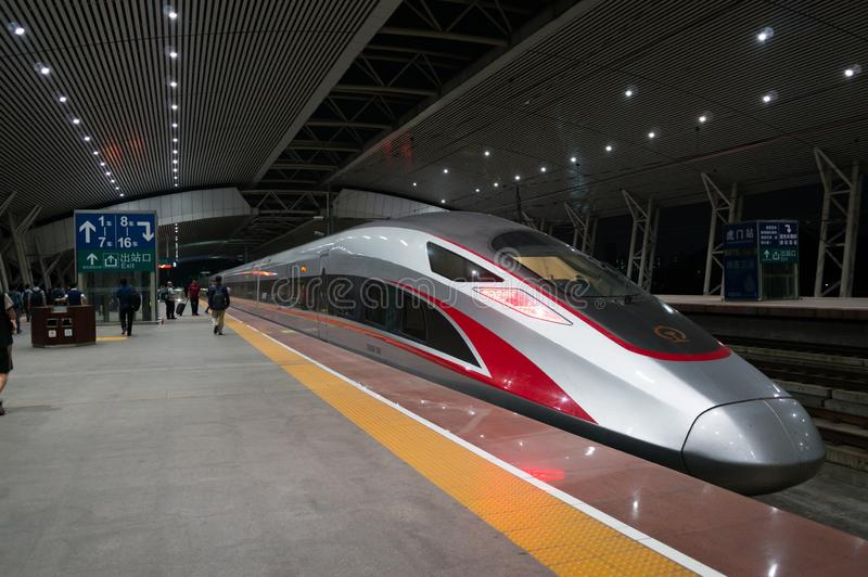 Train in Shenzhen Railway Station royalty free stock photography