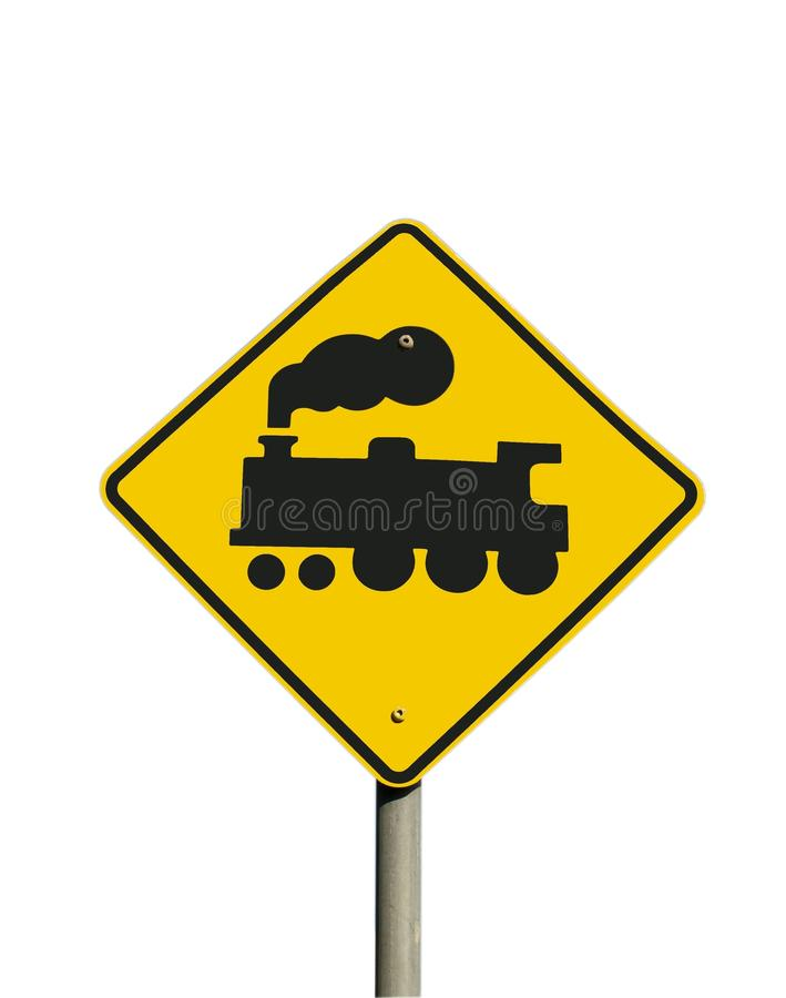 Free Train Sign (isolated) Royalty Free Stock Photography - 16243347