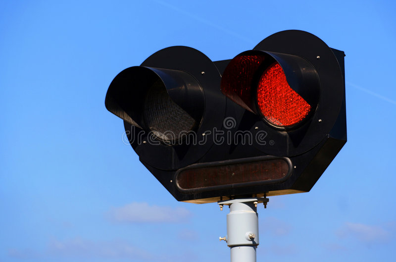 Train signal stock image