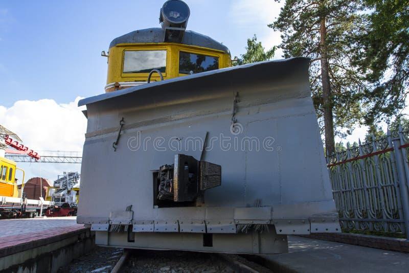 Train spécial Musée du chemin de fer Chasse-neige ferroviaire photo libre de droits