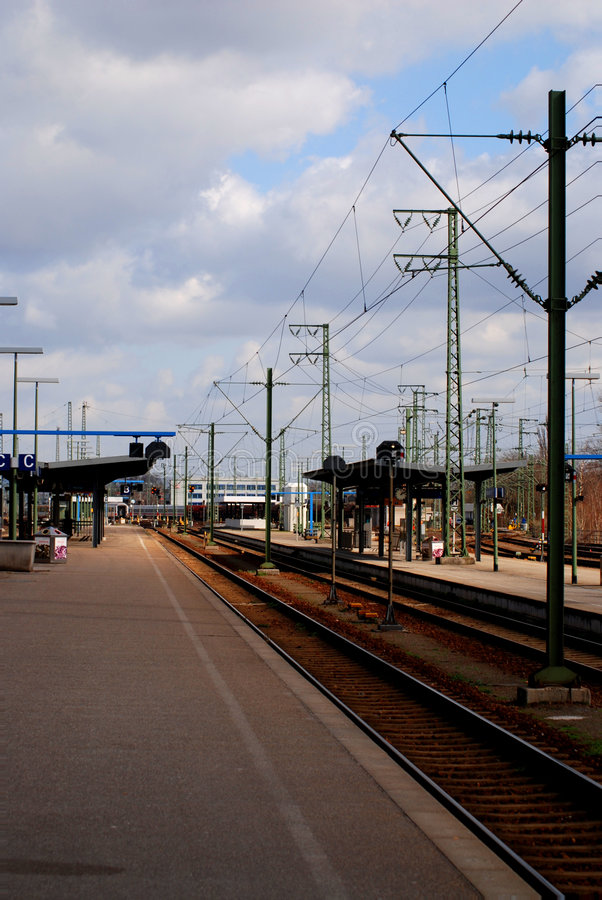 Download Train station 2 stock image. Image of railway, power, rails - 2076991