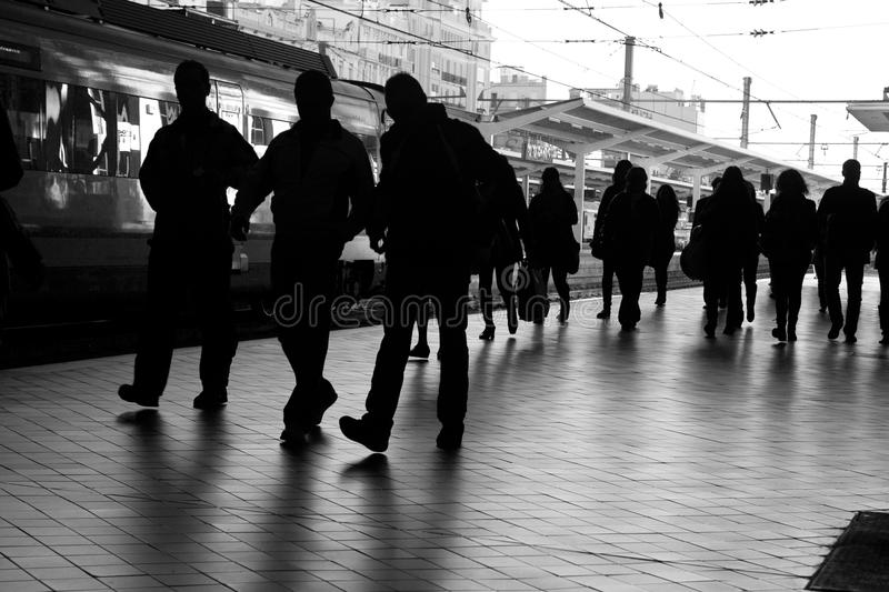 Download Train Station stock image. Image of move, people, bustle - 27450879