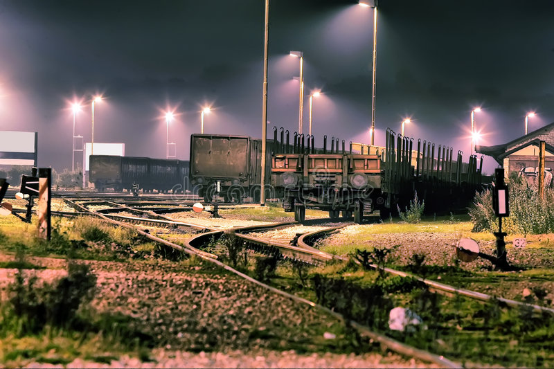 Download Train station stock photo. Image of night, rail, lorry - 3755072