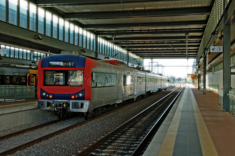 Download Train at station stock image. Image of engine, diesel - 5679833