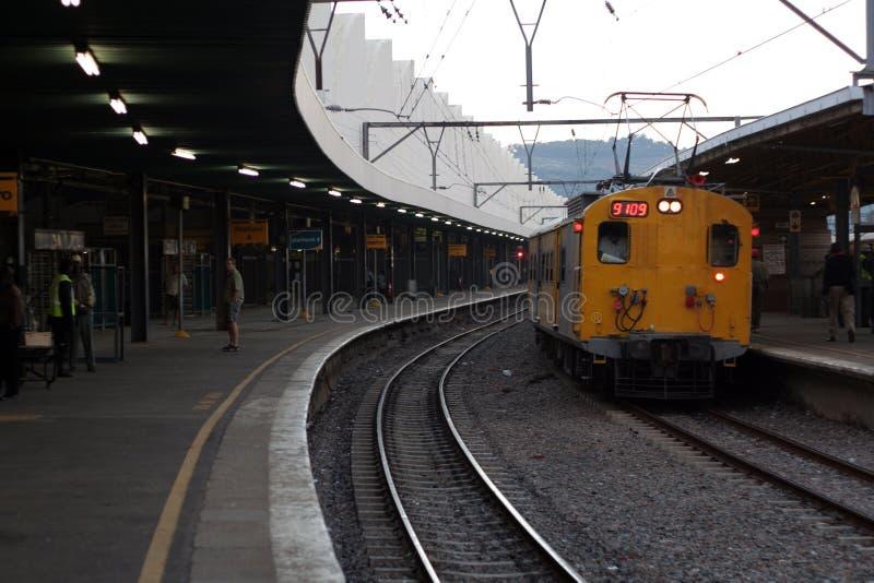 Train at station stock photos