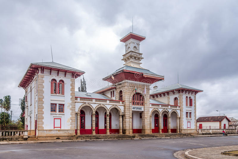 Train station in Antsirabe. Madagascar stock photo