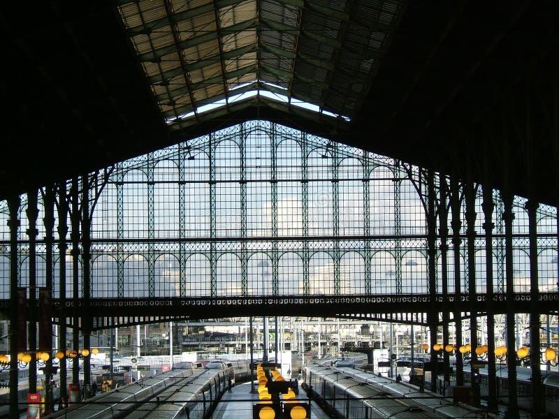 Train station architecture stock photos