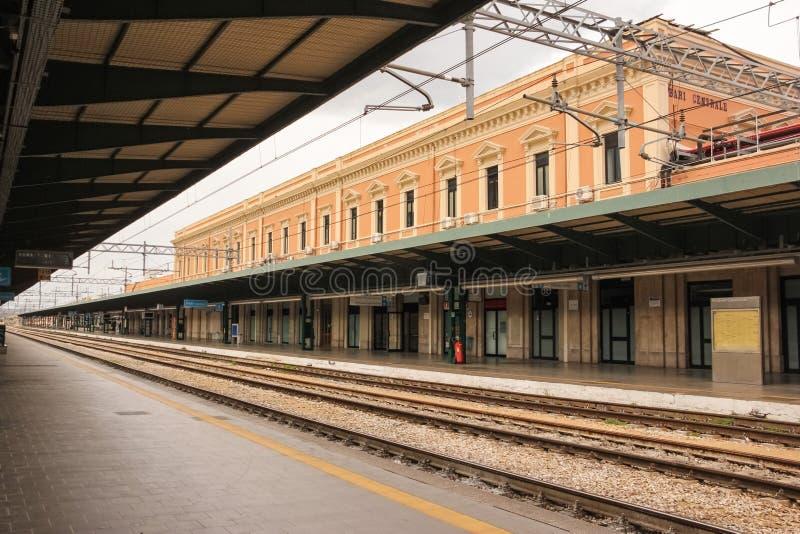 Train station .Bari. Apulia or Puglia. Italy royalty free stock photos