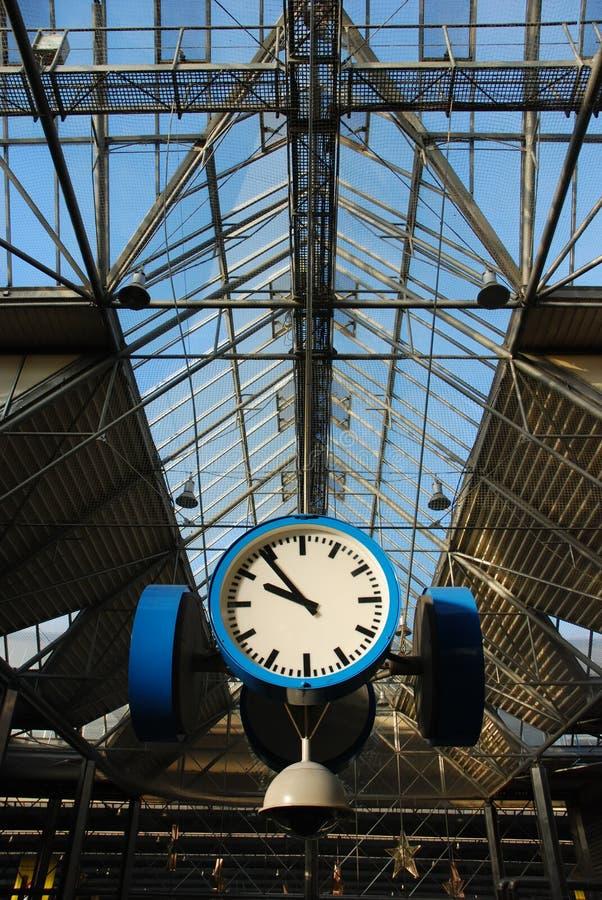 Train-station clock stock photos