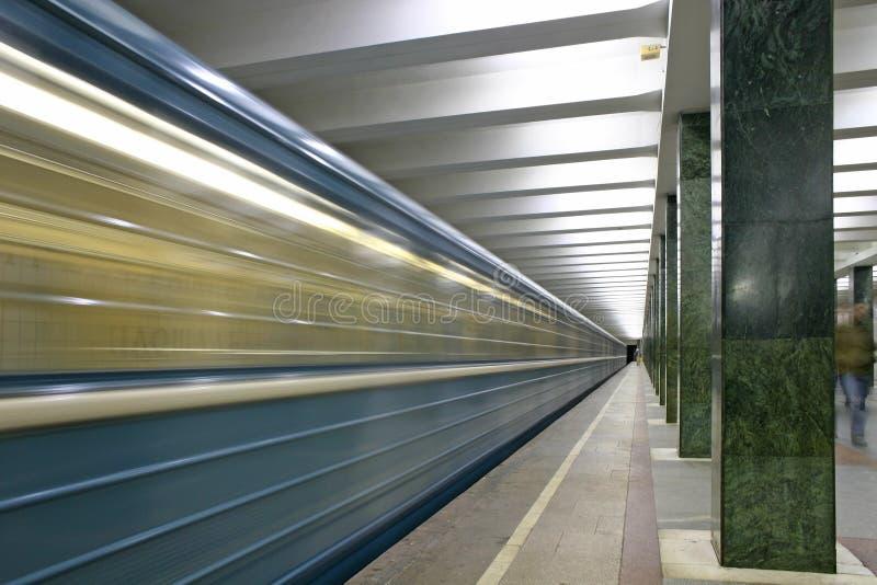 Train. station de métro images stock