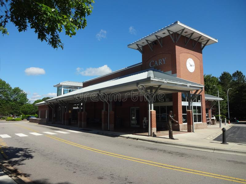 Train Station in Downtown Cary, NC. Train Station in Downtown Cary, North Carolina stock photo