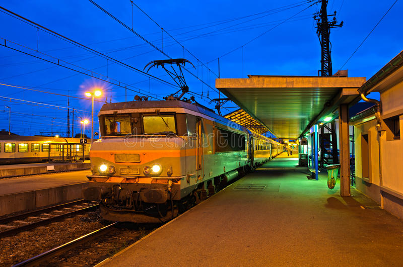 Download Train Station In Evening Light (HDR), France Stock Photo - Image: 24619958