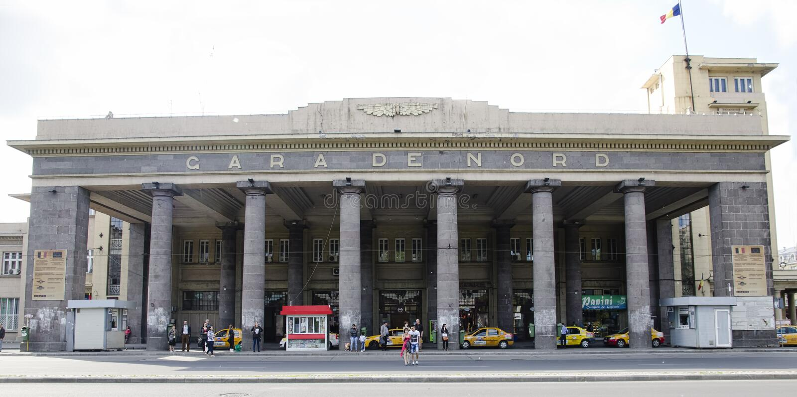 Train station - Gara de Nord. Gara de Nord - the main railway station in Bucharest and the largest railway station in Romania stock photo