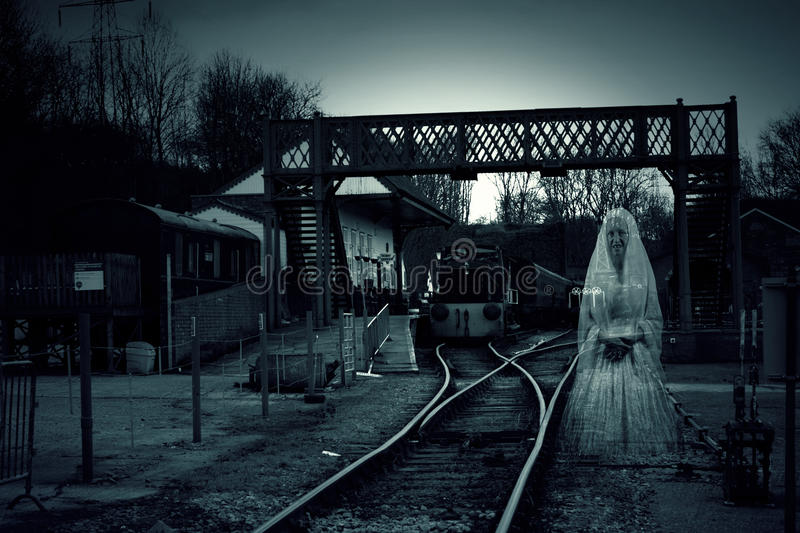 Train Station Ghost stock image